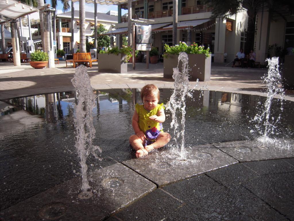 Camana Bay small fountain